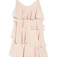 Rebecca Taylor | Tiered Lurex-flecked silk-chiffon dress | NET-A-PORTER.COM