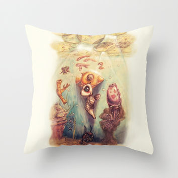 Below the Surface Throw Pillow by Ben Geiger