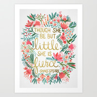 Little & Fierce Art Print by Cat Coquillette