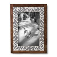 Threshold™ Printed Wood Frame - White/Grey 4X6