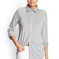 Knit Button-Up Shirt