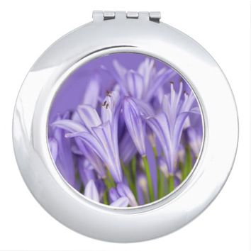 Beautiful Purple Agapanthus Compact Mirror