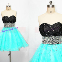 2014 ice blue tulle homecoming dress short,latest cute sweetheart prom dresses hot,cheap chic women gowns for holiday party.