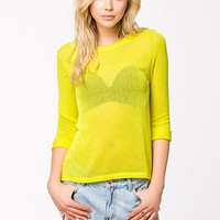 LS Fine Knit Vent Back Top