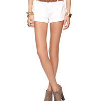 Woven Shorts w/Braided Belt | FOREVER21 - 2000035161