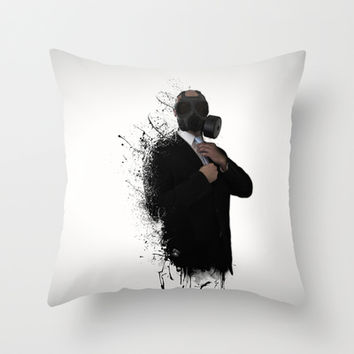 Dissolution of man Throw Pillow by Nicklas Gustafsson