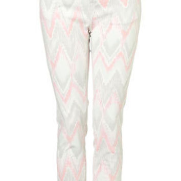 Washed Aztec Print Trousers