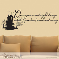 Vinyl Wall Decal Edgar Allan Poe Quote The Raven by Twistmo