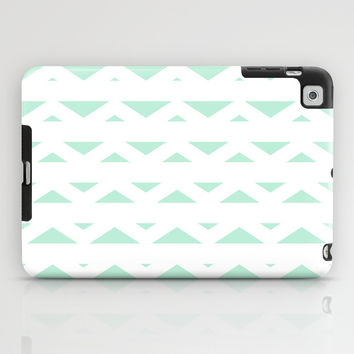 Tribal Triangles Mint Green iPad Case by BeautifulHomes | Society6