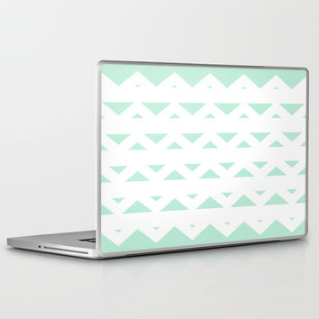 Tribal Triangles Mint Green Laptop & iPad Skin by BeautifulHomes | Society6