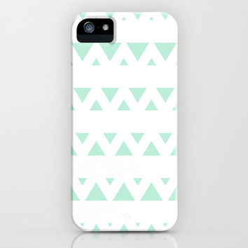 Tribal Triangles Mint Green iPhone & iPod Case by BeautifulHomes | Society6