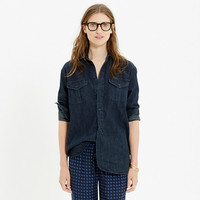 Denim Cargo Workshirt in Orson Wash