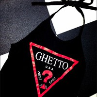 SWEET LORD O'MIGHTY! GHETTO HALTER IN BLACK