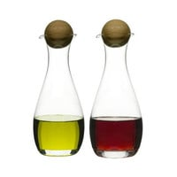 The Foodie's Oil & Vinegar Glass Bottles - Set of 2