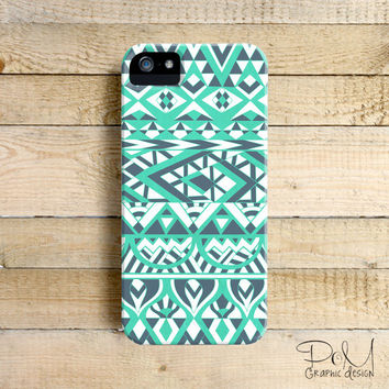 Tribal Simplicity Aqua - iPhone 5/5c case, iPhone 4/4s case, Samsung Galaxy S3/S4