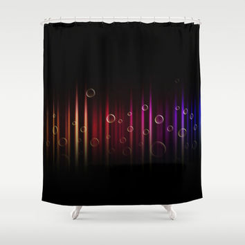 Bubbles and colors  Shower Curtain by VanessaGF