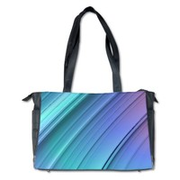 Aqua/Blue/Purple Diaper Bag | CafePress.com