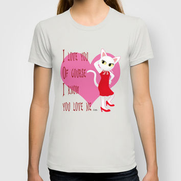 I know you love me T-shirt by BATKEI