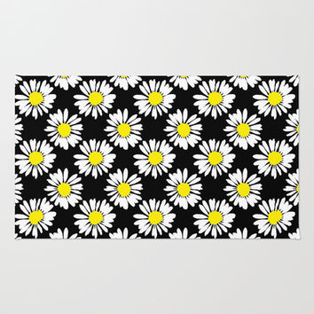 Daisies Area & Throw Rug by Ornaart