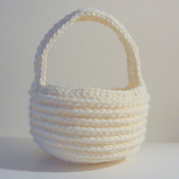 Easter Basket PDF Crochet Pattern INSTANT DOWNLOAD
