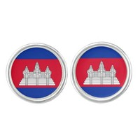 Cambodian flag Cufflinks