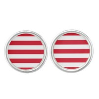 Indonesian flag Cufflinks
