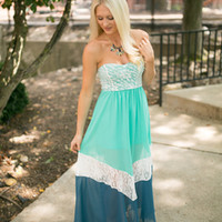 Blue Moon Lace Bottom Maxi