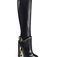 Salvatore Ferragamo - Nadix Knee-High Leather Boots - Saks Fifth Avenue Mobile