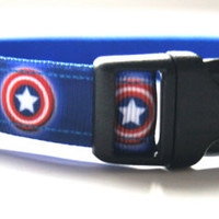 Captain America Dog Collar Adjustable Sizes (M, L, XL)