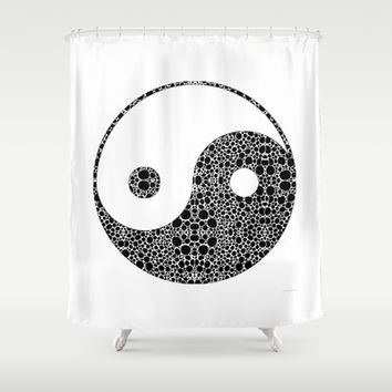 Perfect Balance 1 - Yin and Yang Stone Rock'd Art by Sharon Cummings Shower Curtain by Sharon Cummings | Society6