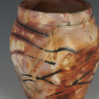 Painted Desert Organic Altered Vase by earthtoartceramics