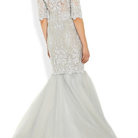 Marchesa Embroidered tulle gown – 70% at THE OUTNET.COM