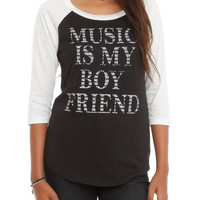 Music Is My Boyfriend Girls Raglan
