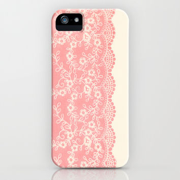 Lace #CoralPink iPhone & iPod Case by Armine Nersisian