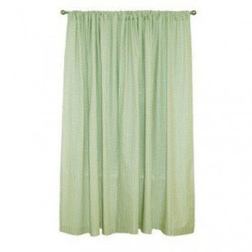 "Sleeping Partners Tadpoles Classic 84"" Sage Gingham Rod Pocket Curtain Panels - dpnlgm018 - Window Treatment - Decor"