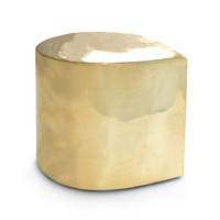 Jonathan Adler Brass Teardrop Side Table