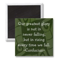 Confucius Quotation - Motivational Magnet from Zazzle.com