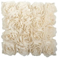 Mini Rosette Pillow - Ivory