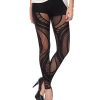 Lace Pattern Leggings | FOREVER21 - 2000033957