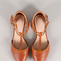 Kylie Leatherette Pointy Toe Flat