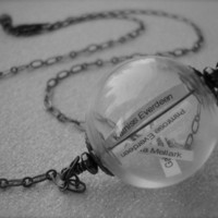 THE REAPING - Hunger Games Inspired Glass Orb Reaping Ball Necklace | JetaimeBoutique - Jewelry on ArtFire