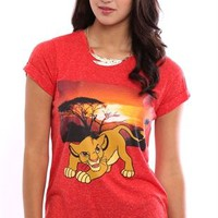 Short Sleeve High Low Tee with Simba Sunset Screen