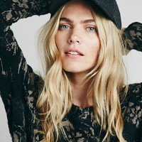 Free People Tweed Menswear Baseball Cap