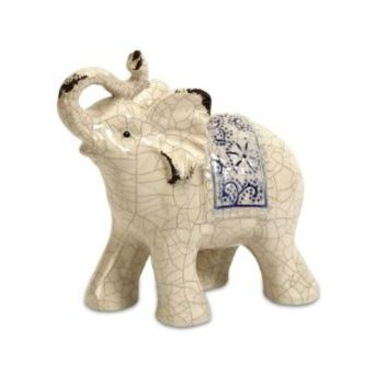 IMAX 8.75H in. Sandoval Ceramic Elephant