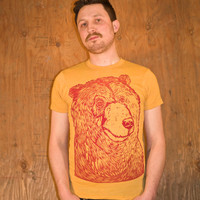 Grizzly Bear Shirt - Ecofriendly - Crewneck Bear Shirt - Eco Friendly - Eco Clothing - Bear Print