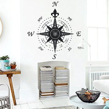 Wall Vinyl Decal Sticker Compass Art Design Nursery Room Nice Picture Decor Hall Wall Ki447