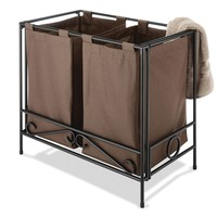 Whitmor Folding Double Laundry Hamper