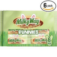 Milky Way Bunnies, Simply Caramel, 6.6-Ounce Packages (Pack of 6)