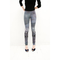 Bilberries milk leggings by ZIBtextile on Etsy