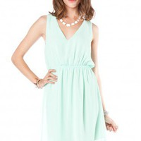 Sandra Dress in Mint - ShopSosie.com